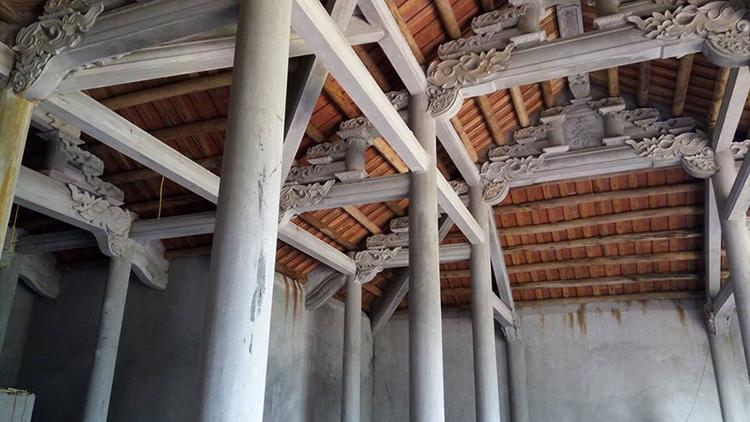 Nhà thờ tộc bằng bê tông giả gỗ