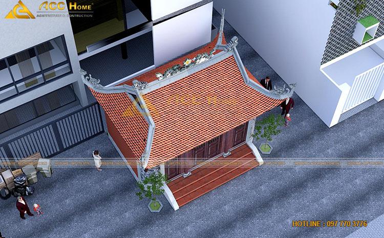 Phần mái nhà thờ họ 4 mái